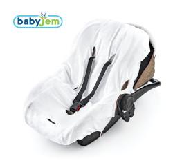 Babyjem - Babyjem Örme Havlu Ana Kucağı Kılıfı Beyaz