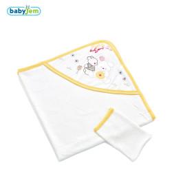 Babyjem - Babyjem Yeni Doğan Havlusu Sarı