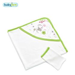 Babyjem - Babyjem Yeni Doğan Havlusu Yeşil
