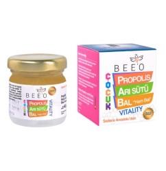 Beeo - BEE'O 40 gr. Propolis Arı sütü Ham Bal Karışımı (Çocuk)