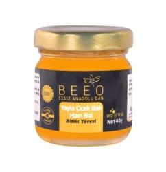 Beeo - BEE'O 40 gr. Yayla Çiçek Balı Bitlis Yöresi (Ham Bal)