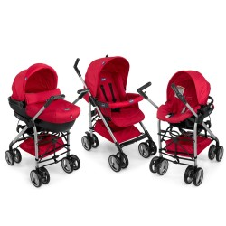 Chicco - Chicco Trio Sprint Travel Sistem Bebek Arabası (Red Passion)