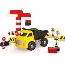 Dolu - Dolu Jumbo Traktör Ve Bloklar 40 Parça