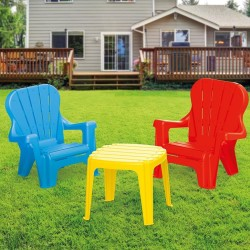 Dolu - Dolu Masa Ve 2'Li Sandalye Seti