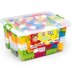 Dolu - Dolu Sandıkta Büyük Renkli Bloklar 450 Parça