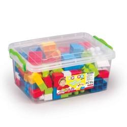 Dolu - Dolu Sandıkta Büyük Renkli Bloklar 85 Parça