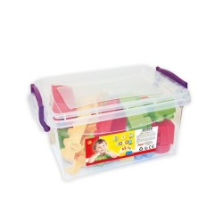 Dolu - Dolu Sandıkta Mini Renkli Bloklar 42 Parça