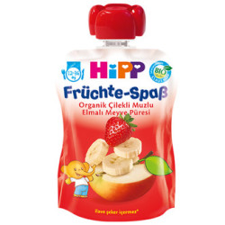 Hipp - Hipp Organik Çilekli Muzlu Elmalı Meyve Püresi
