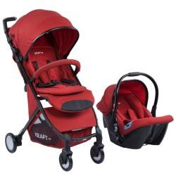 Kraft - Kraft Mist Travel Sistem Bebek Arabası Kırmızı