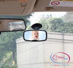 Miny Baby - MinyBaby Vantuzlu-Klipsli Araç içi Bebek Dikiz Aynası