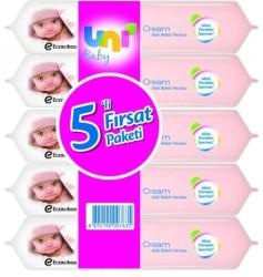 Uni Baby - Uni Baby Cream Islak Havlu 5'li Avantaj Paket