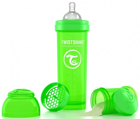 Twistshake - TwistShake Anti-Colic 330 ml Biberon Yeşil