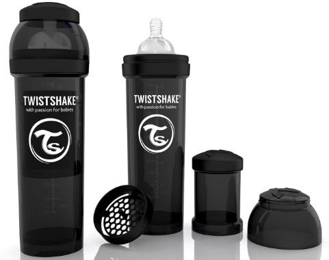 Twistshake - TwistShake Anti-Colic 330 ml Biberon Siyah
