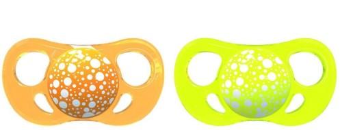 Twistshake - TwistShake 6+ AY İkili Ortodontik Silikon Yalancı Emzik Turuncu Sarı