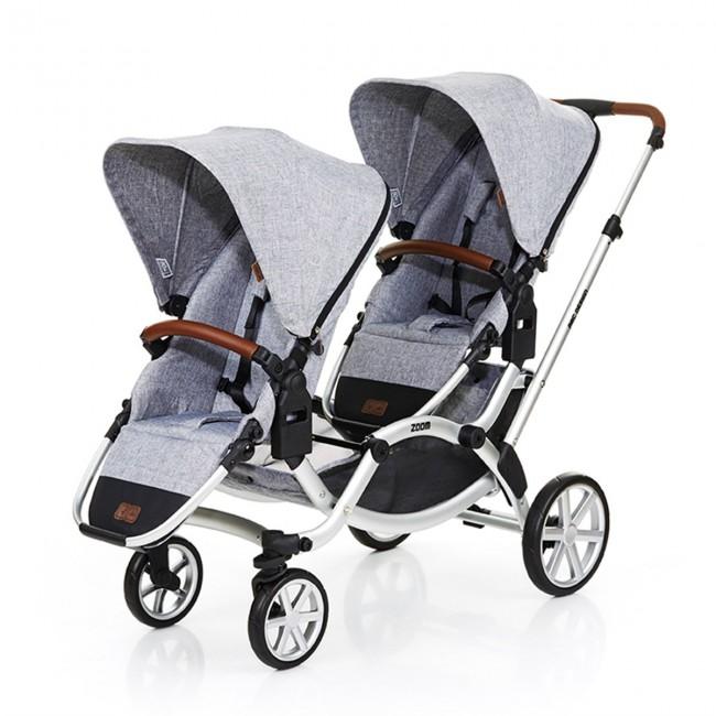 ABC Design Zoom İkiz Bebek Arabası 2019 Model + 2 Ana Kucağı + 2 Adaptör - Thumbnail