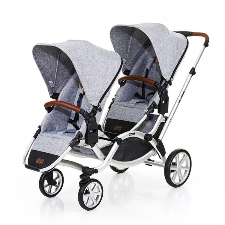 ABC DESIGN - ABC Design Zoom İkiz Bebek Arabası 2019 Model + 2 Ana Kucağı + 2 Adaptör