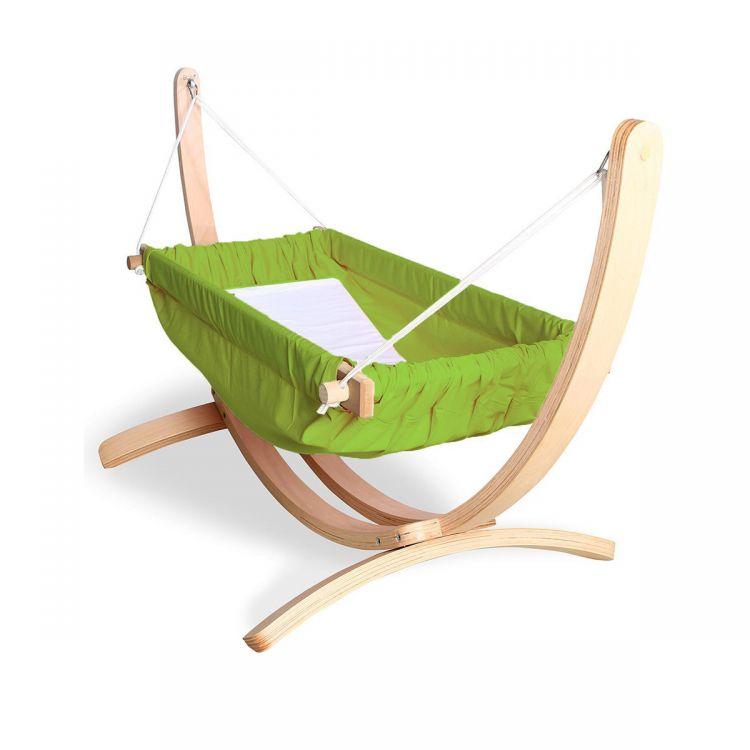Bliss - Ahşap Standlı Bebek Hamağı Yeşil