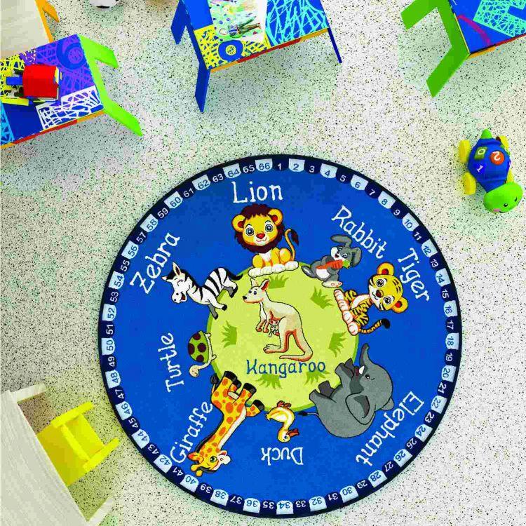 Confetti - Confetti Animal Planet Ø 133 cm Mavi Bukle