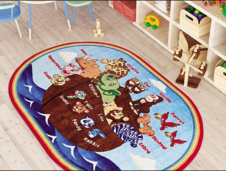 Confetti - Confetti Animals Ships Anti-Slip 200x290 Mavi