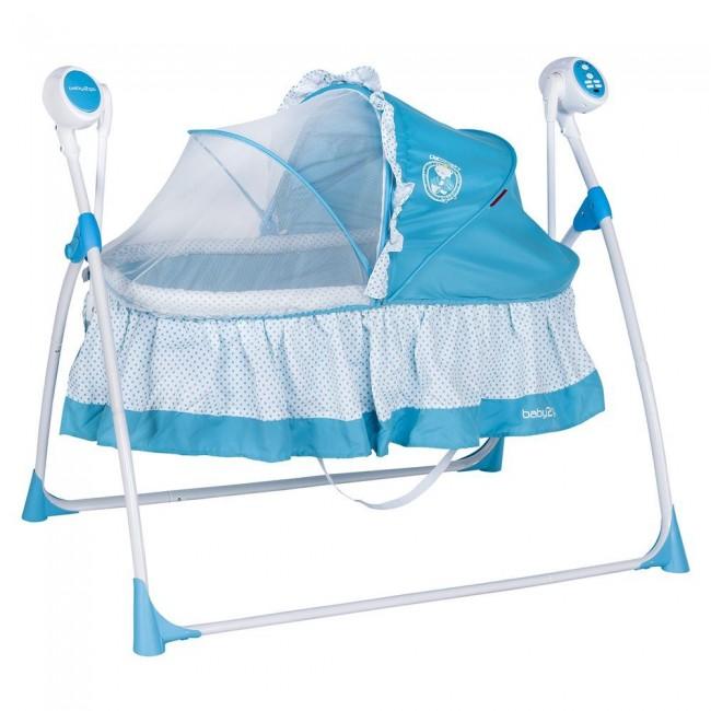 Baby2Go - Baby 2 Go 6112 Beşik Sallanır Beşik Uzaktan Kumandalı Mavi