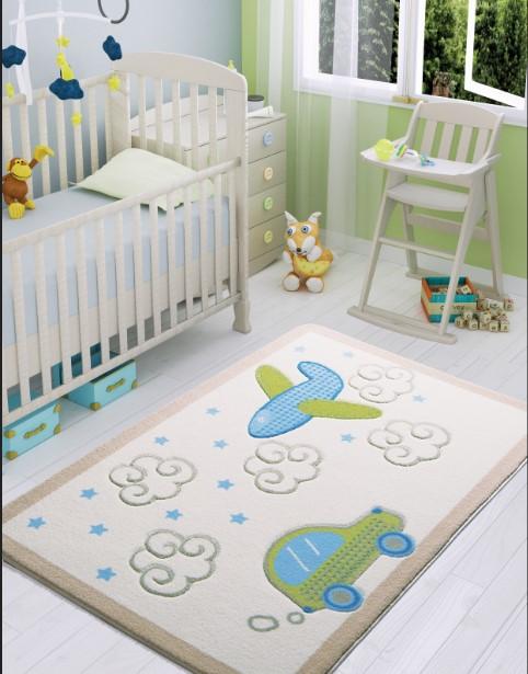 Confetti - Confetti Baby Road 100x150 Beyaz Oymalı