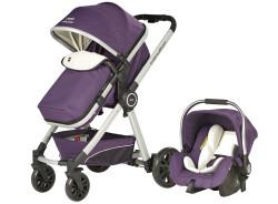 Baby2Go - Baby2Go 6033 Power Plus Travel Sistem Bebek Arabası Mor