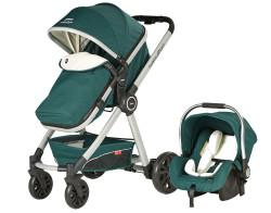 Baby2Go - Baby2Go 6033 Power Plus Travel Sistem Bebek Arabası Yeşil