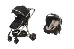 Baby2Go - Baby2Go 8033 Power Lüks Travel Sistem Bebek Arabası Siyah