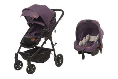Baby2Go - Baby2Go 8046 Caromio Travel Sistem Bebek Arabası Mor