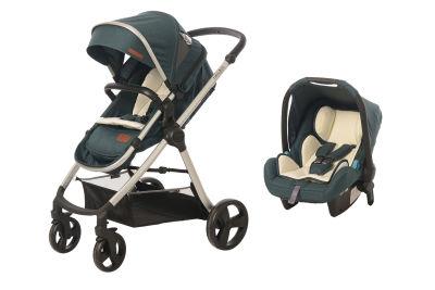 Baby2Go - Baby2Go 8050 Viber Lx Travel Sistem Bebek Arabası Yeşil