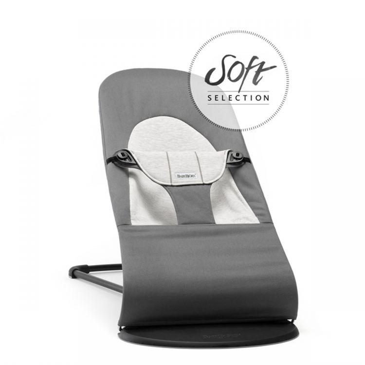 BabyBjörn - BabyBjörn Balance Soft Ana Kucağı Dark Grey / Grey Cotton Jersey