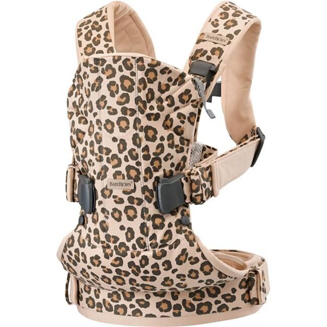 BabyBjörn - BabyBjörn Kanguru One Cotton MIX / Beige Leopard