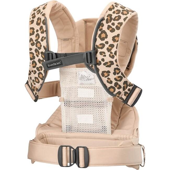 BabyBjörn Kanguru One Cotton MIX / Beige Leopard - Thumbnail
