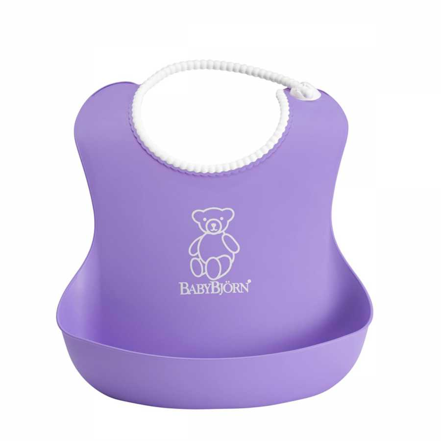 BabyBjörn Yumuşak Plastik Mama Önlüğü / Purple