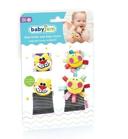 Babyjem - BabyJem Çıngıraklı Çorap ve Bileklik