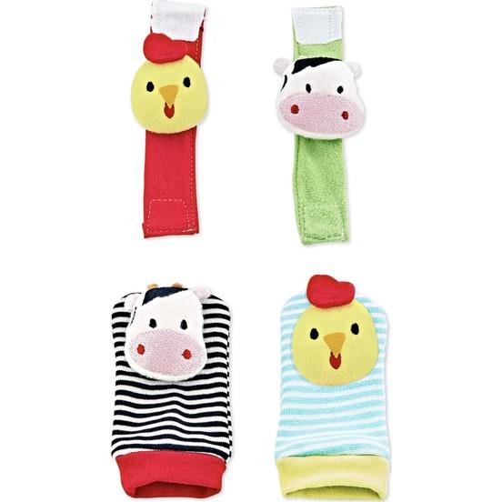 Babyjem - BabyJem Çıngıraklı Çorap ve Bileklik Civciv