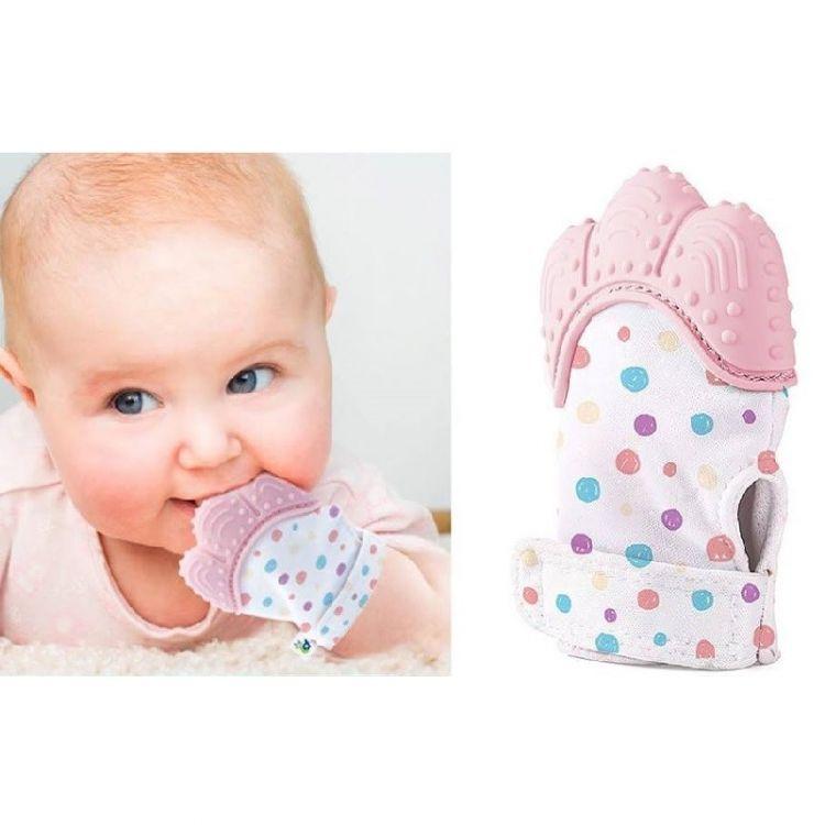 Babyjem - Babyjem Diş Kaşıyıcı Eldiven Pembe