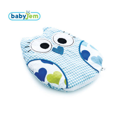 Babyjem - Babyjem Kiraz Çekirdekli Yastık Mavi Baykuş
