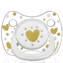 Bebedor - Bebedor Şeffaf Damaklı Uç Kalpli Emzik 18+ Ay