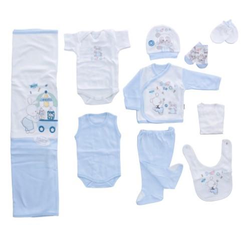 Bebitof - Bebitof Şekerci Tavşan 10 Lu Hastane Çıkışı Mavi