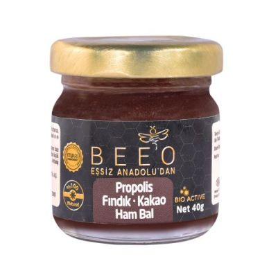 Beeo - BEE'O 40 gr. Fındık Kakao Propolis Ham Bal Karışımı