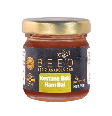 Beeo - BEE'O 40 gr. Kestane Balı Kastamonu Yöresi (Ham Bal)