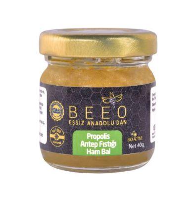 Beeo - BEE'O 40 gr. Propolis Antep Fıstığı Leblebi Propolis Ham Bal Karışımı