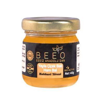 Beeo - BEE'O 40 gr. Yayla Çiçek Balı Hakkari Yöresi (Ham Bal)