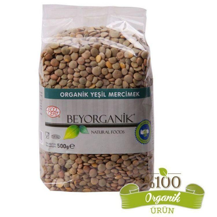 Beyorganik - Beyorganik Organik Yeşil Mercimek 500 Gr