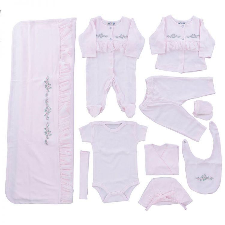 - Bip Baby Çiçekli Kız Bebek 10lu Hastane Çıkışı Pembe