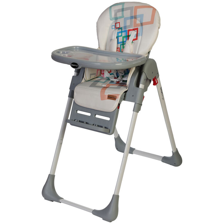 BrionVega - Brion Vega Çok Fonksiyonlu Tekerlekli Mama Sandalyesi Gri