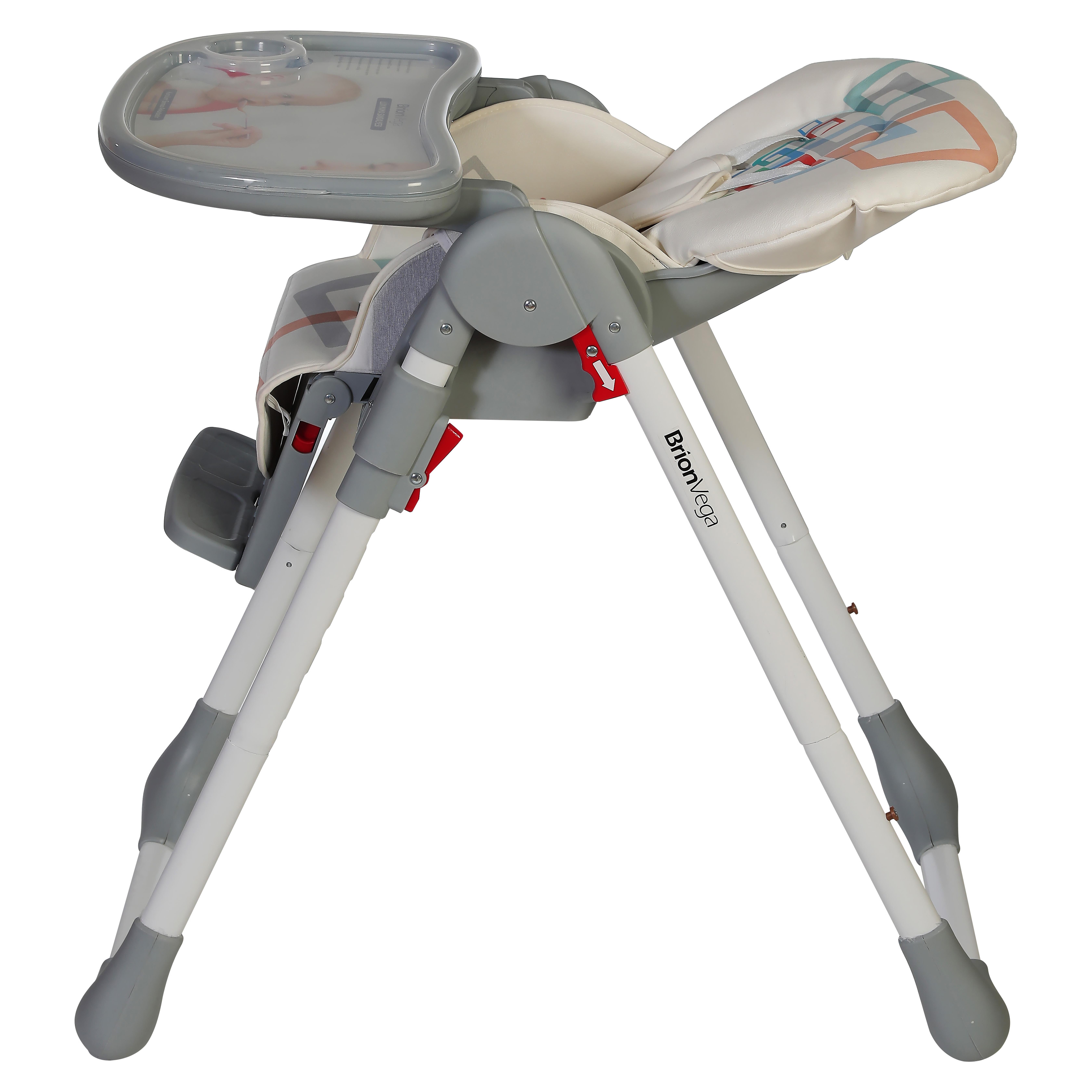 Brion Vega Çok Fonksiyonlu Tekerlekli Mama Sandalyesi Gri