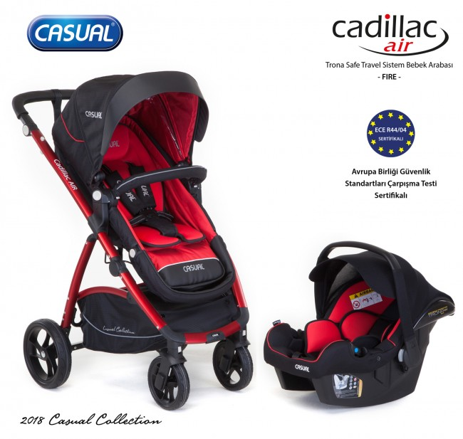 Casual - Cadillac Air Trona Safe Travel Sistem Bebek Arabası - Fire
