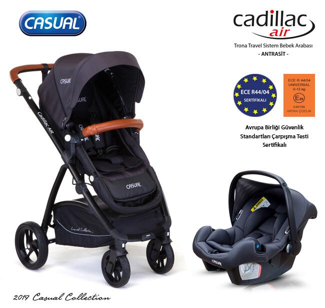 Casual - Cadillac Air Trona Travel Sistem Bebek Arabası - Antrasit